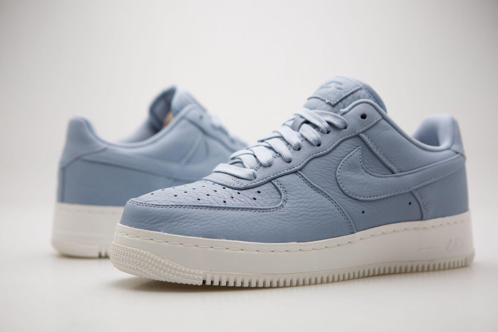 905618-400 Nike uomo Nikelab Air Force 1 Low Blue Grey Sail Scarpe classiche da uomo