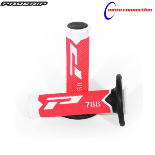 PRO GRIP 788 RED WHITE TRIPLE DENSITY GRIPS HONDA CRF250 CRF450 2008 BLACK