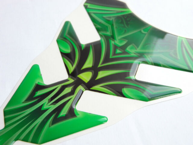 Moto Protector de Depósito Verde 144 x 221mm 3D Gel Universal