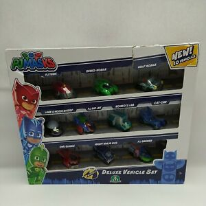 PJ-Masks-Deluxe-Vehicle-Set-With-10-Vehicles-Damaged-Packaging-95785-New
