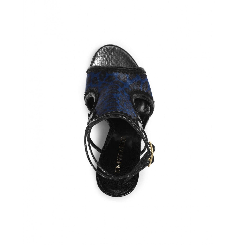 Tamara Mellon Blau Schwarz Trouble Maker Sandalen 105mm 105mm 105mm Ferse 8b7432
