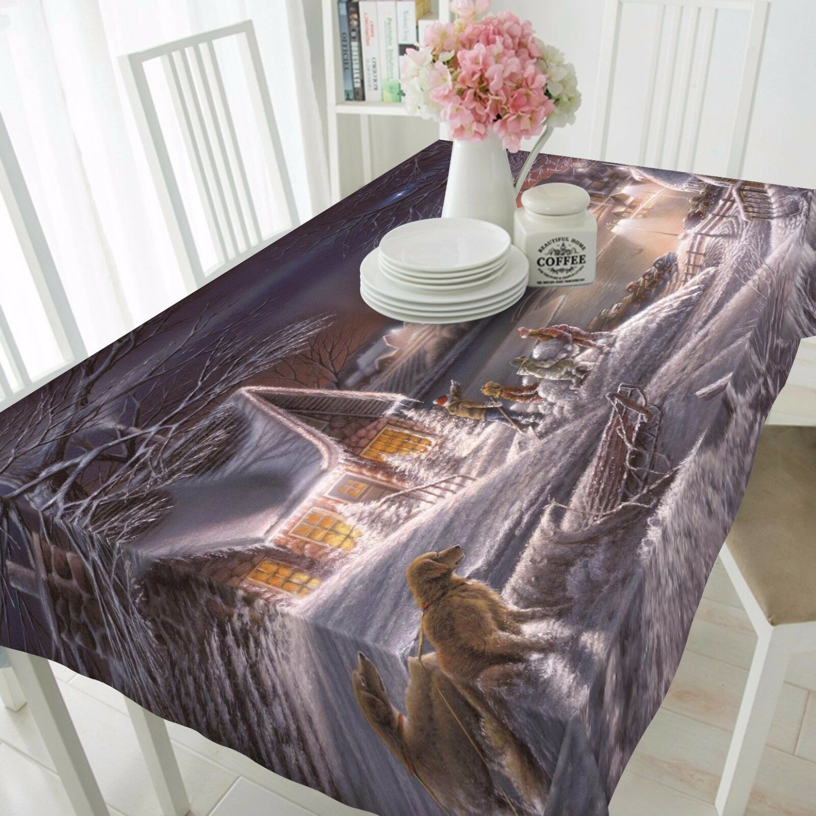 3D Snow house7 Tablecloth Table Cover Cloth Birthday Party Event AJ WALLPAPER AU