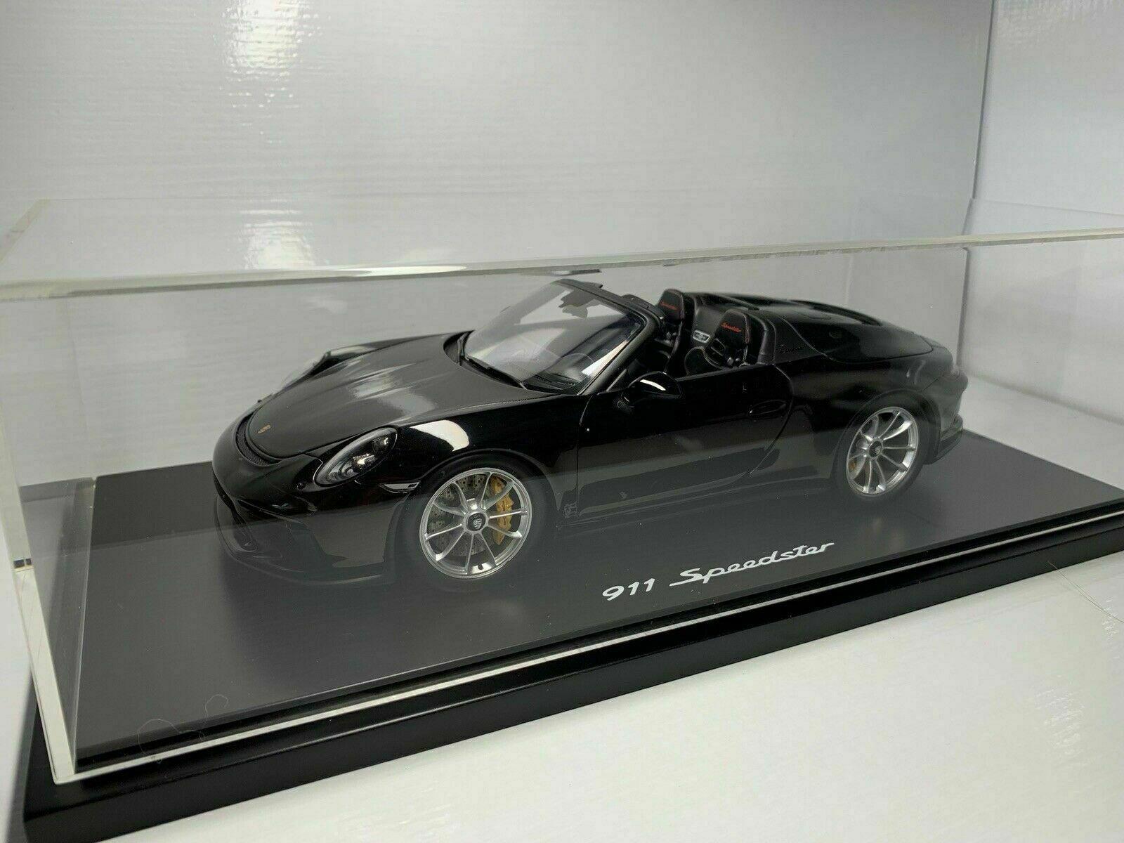 1 18 Spark Dealermodell WAP0219320K041 2019 Porsche 991 Speedster Negro +