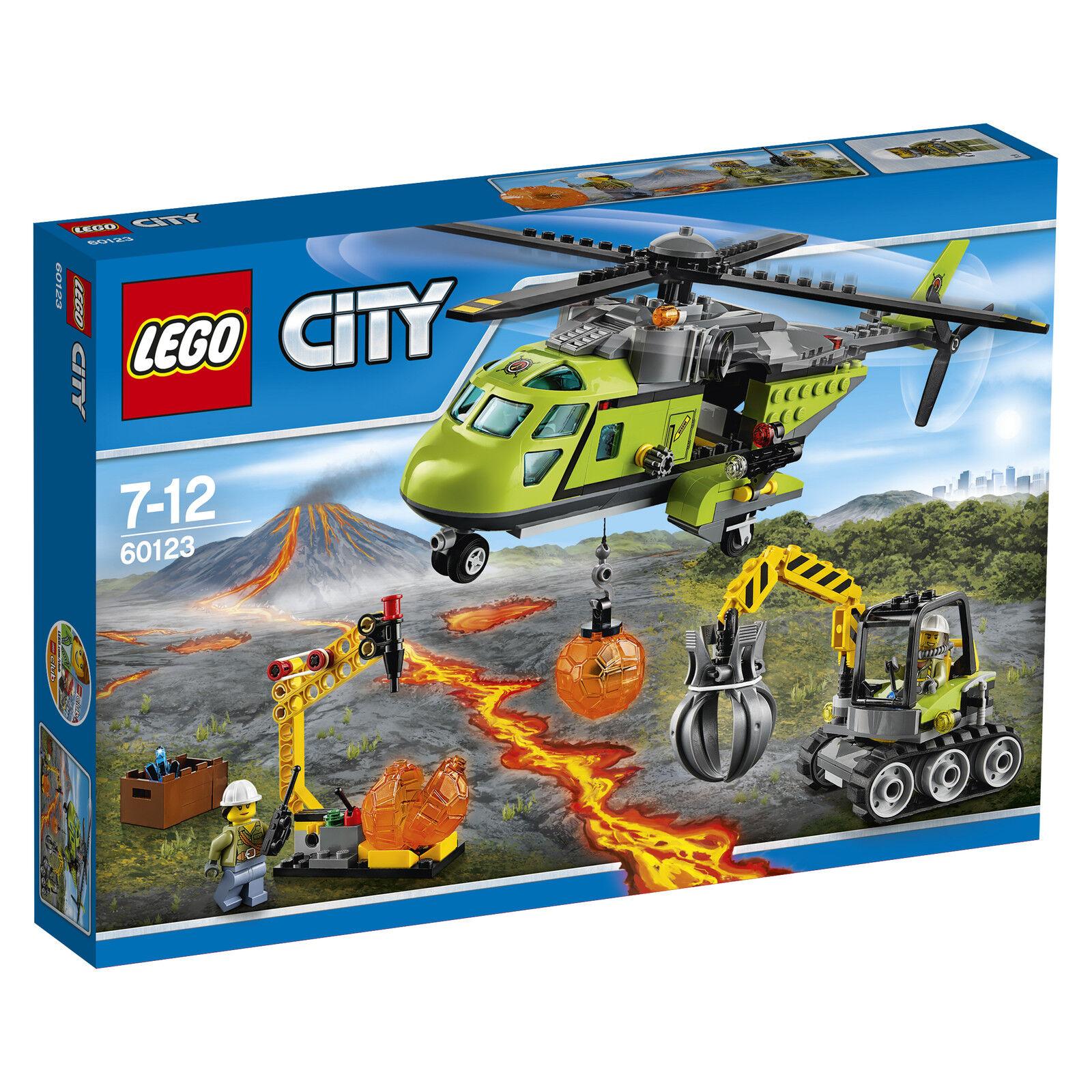 LEGO® City 60123 Vulkan-Versorgungshelikopter NEU_ Volcano Supply Helicopter NEW