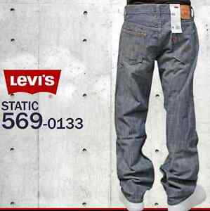 7e7c069e NWT LEVIS 569 LOOSE STRAIGHT FIT STATIC WASH 0133 ZIP FLY JEANS 29 X ...