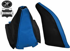 SKY BLUE  BLACK LEATHER GEAR GAITER&HANDBRAKE GAITER FOR MAZDA MX5 MK2 NB 98-00