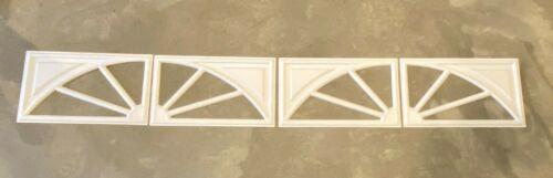4pc Amarr Wagon Wheel Decratrim Window Inserts Short Panel White Garage Door