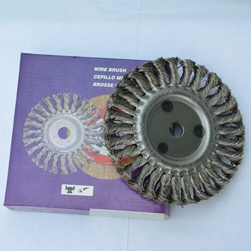 """6/"""" Flat Twisted Knotted Wire Wheel Brush 22mm Center Hole Grinding Cleaner"""