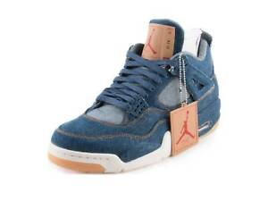 89f3da23b5a Nike Mens Air Jordan 4 Retro Levis NRG Denim/Sail/Red AO2571-401 | eBay