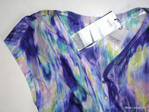 Blouse Tunika Long Esprit Dress Seiden Bluse Silk Neu Collection M Blurry Gr 38 trwqwXP6