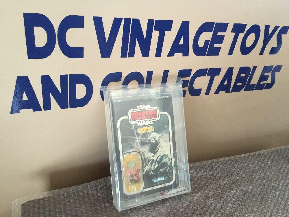 Vintage 1980 Kenner Star Wars Yoda esb 32-Back-B ENLOMADOR AFA 75 80 80 Wow