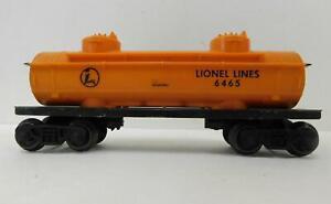 LIONEL 6465-160 LIONEL LINES TANK (ORANGE)