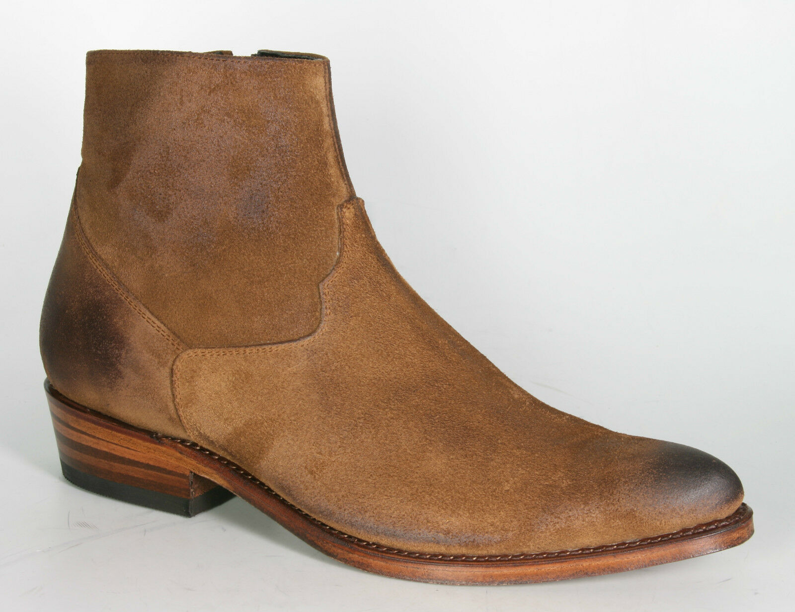 12956 sendra Bottines Lyon Daim usado cadre cousue Chaussures