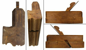 Early Beech Complex Molding Plane - L. Kennedy, Hartford - Quirk Ogee & Astragal
