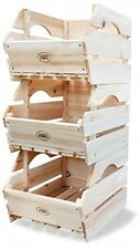 Fruit Storage Rack Box Stand Vegetable Baskets Unit Organiser Wooden Crate Toys