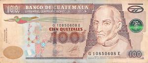 Guatemala-100-Quetzales-2010-P126a-Free-Combine-Low-Shipping