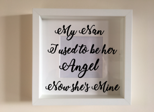 IKEA RIBBA Box Frame Personalised Vinyl Wall Art Quote The greatest gift Dad