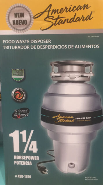 Asd 1250 American Standard 1 25 Hp Waste Disposer Kitchen