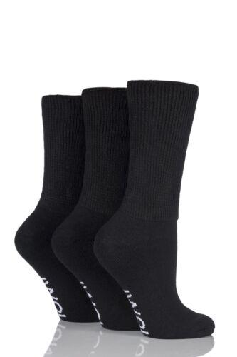 Ladies 3 Pair Iomi Footnurse Gentle Grip Diabetic Socks