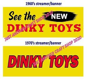 Dinky-Toys-Vintage-Decada-de-1960-amp-Transmisor-de-pantalla-decada-de-1970-Shop-Banner-Poster