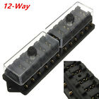 Car Truck Boat 12 Way 12V Standard Blade Block Fuse Box Holder Circuit Universal