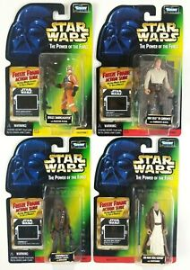 Star Wars Kenner POTF Freeze Frame Obi Wan, Chewbacca, Han Solo, Biggs Sealed