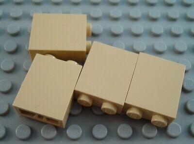 LEGO Lot of 4 Tan 1x2x2 Wall Brick Pieces