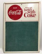 Original Vintage Enjoy Coca-Cola Menu Board