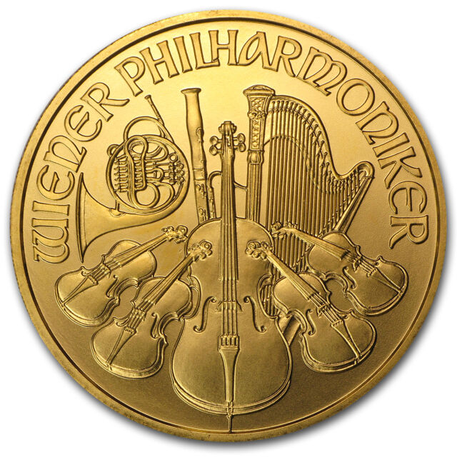 2002 Austria 1 oz Gold Philharmonic BU - SKU #74842