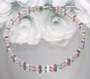 Halskette-Kette-Wuerfelkette-Wuerfel-Cube-rosa-rose-weiss-silber-filigran-127a