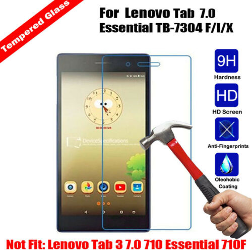 New High Quality Tempered Glass Screen Protector For Lenovo Tab 7 Essential TB-7