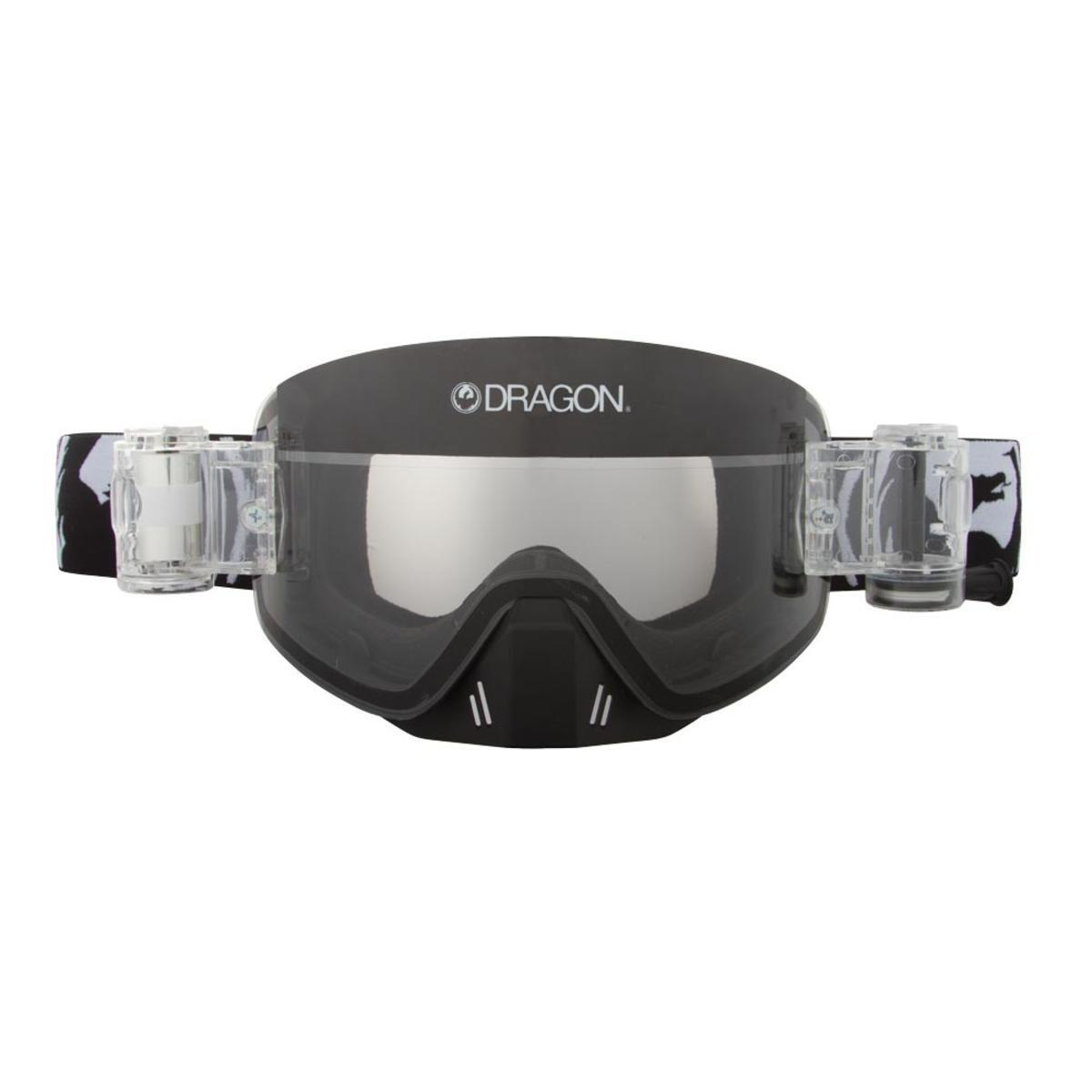 Dragon NFX MX Goggles Coal Clear Dimple Rapid Roll Clear