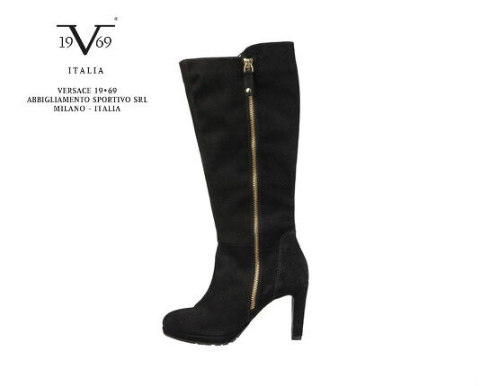 Men/Women V1969 Italia Designer Black Suede Boots Excellent value Attractive fashion Recommended today