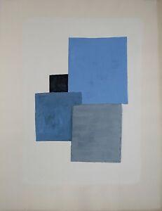 Composition Abstraite 142 Jean Marie Ledannois Peinture Originale Gouache Ebay