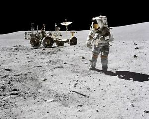 Astronauts & Space Travel Historical Memorabilia Obliging Apollo 16 Astronaut John Young & Lrv Moon 11x14 Silver Halide Photo Print