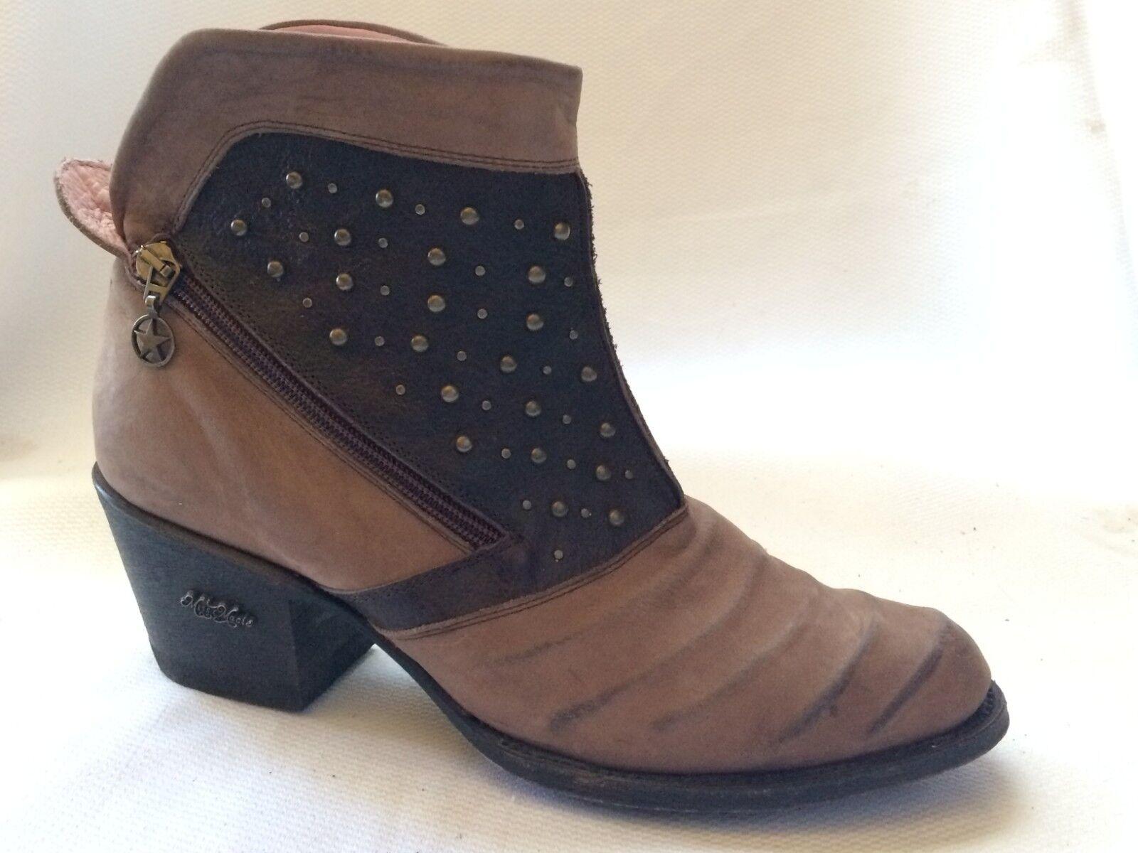 MISS MACIE Fashion Ankle démarrage femmes 10 M Piper Ribbed Dual Zipper marron U7507-01