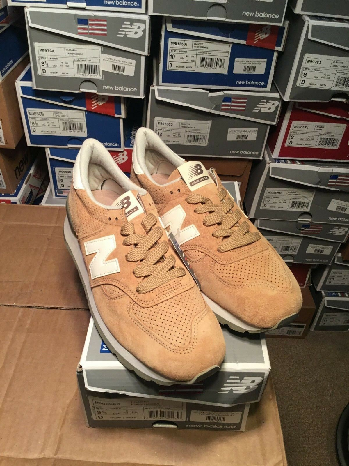 SALE NEW BALANCE 990 M990CER MADE IN THE USA Size 9.5 BRAND NEW IN HAND