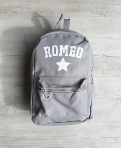 Personalised Boys Name /& Star Toddler Kids Childs Back Pack Back To School Bag