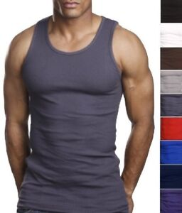 2b2f29ddf2e79 6 High Quality 100% Cotton Men s Undershirt Wife Beater Tank Top ...
