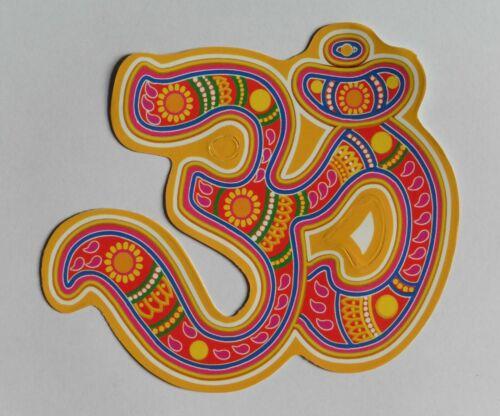 Hindou Bouddhiste sacrée et de bon augure OM Sticker RANGOLI Art 12.6 X 12.2 cm