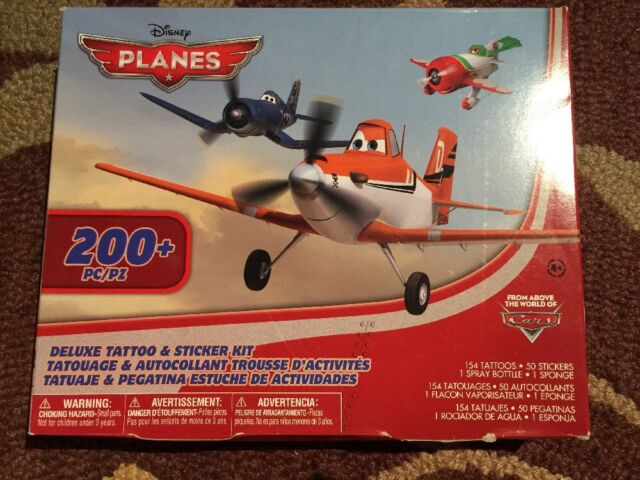 Walt Disney Planes Deluxe Tattoo Sticker Kit 200 Pieces Ebay