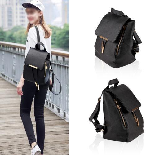 Cool Women Girls Ladies Backpack Travel Shoulder Bag Faux Leather Rucksack