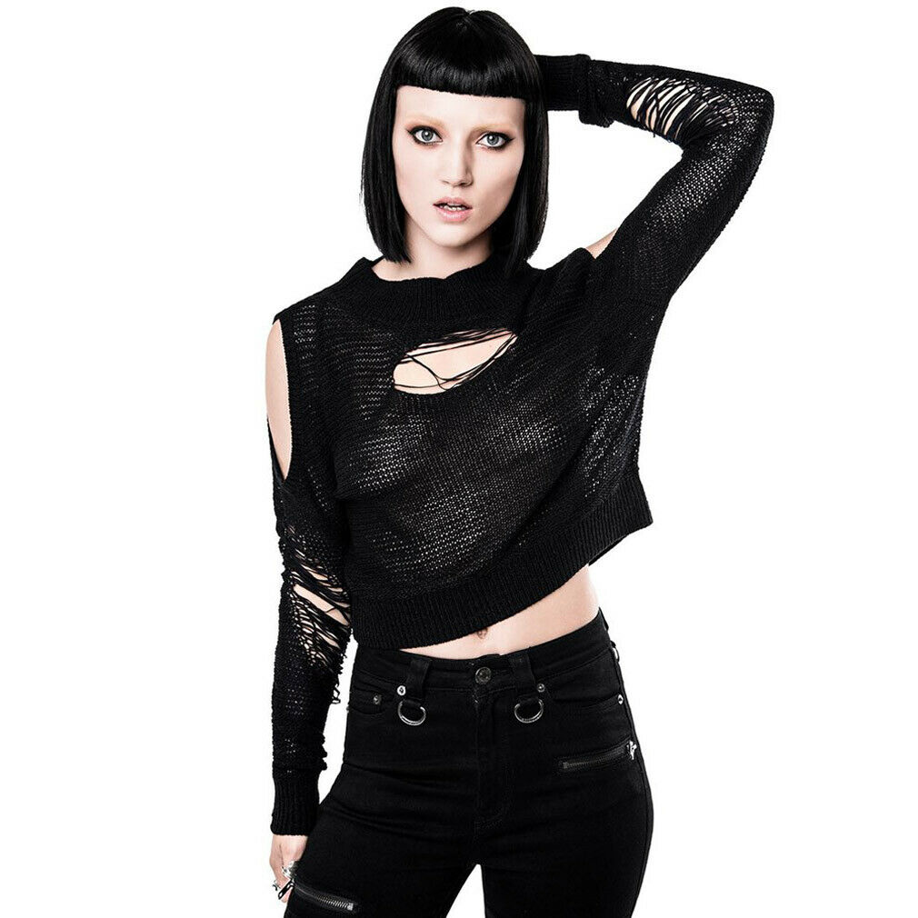 Killstar goth gothique Pull Tricot Pull GalFaibles Destroy Everything Shrougeded