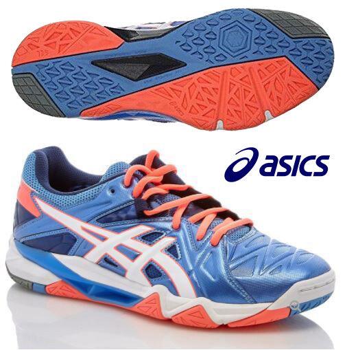 New ASICS femmes  GEL-Cyber Sensei Volleyball Shoe B552Y-4701 bleu Orange All Sz