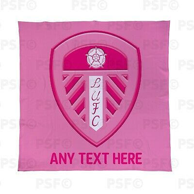 Leeds United Fc Ufficiale Personalizzata Coperta In Pile Rosa Lufc Buttare Lfb009- Luminoso A Colori