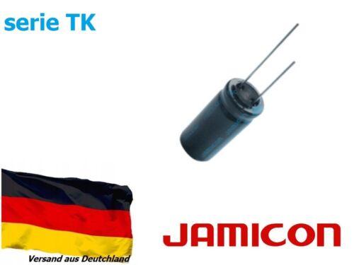 1 Stück Elko Kondensator radial Jamicon 10000uF 16V Ø16x35,5 105°C serie TK
