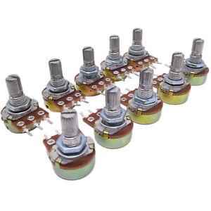 US-Stock-10pcs-100K-ohm-Linear-Taper-Rotary-Potentiometer-Panel-pot-B100K-20mm