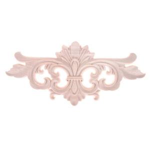 Wood-Carved-Corner-Onlay-Applique-Frame-Decor-Unpainted-Furniture-Home-Craft-D