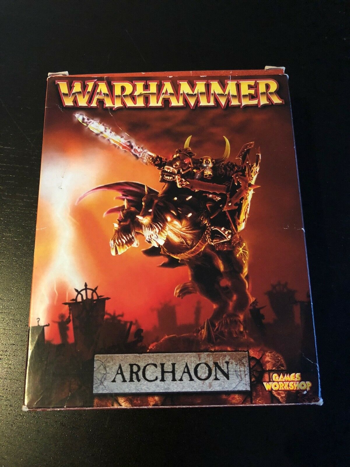 Games Workshop Warhammer Chaos Lord Archaon Mounted NIB Metal New Boxed OOP