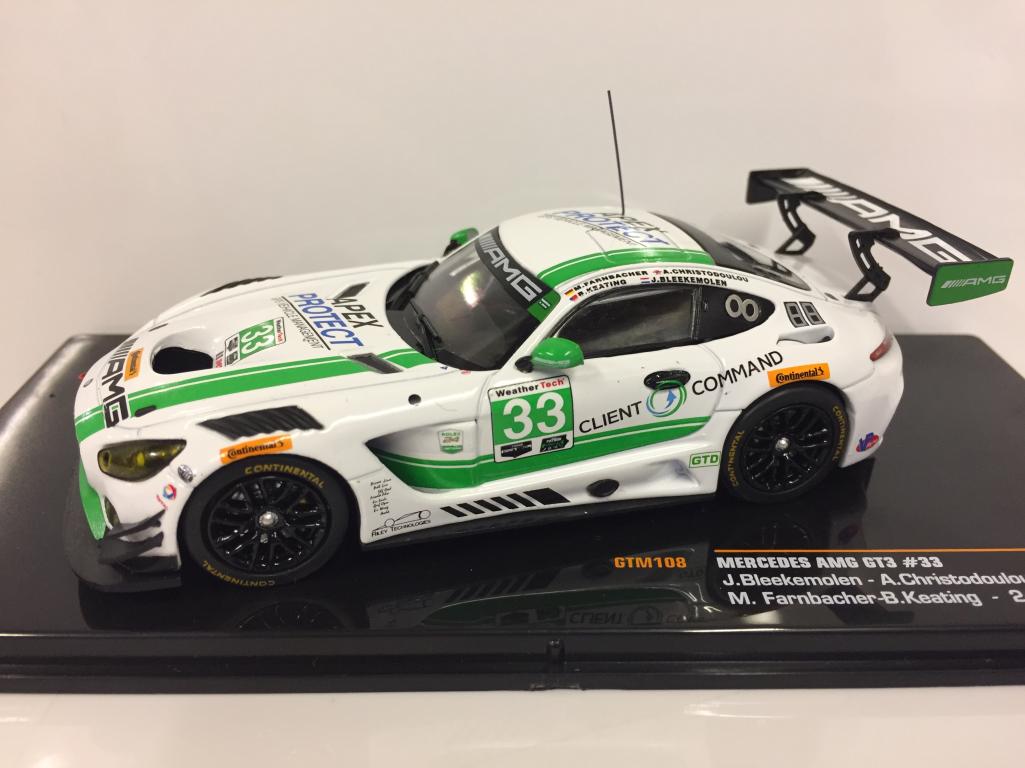 Mercedes-AMG GT3  33 24 ème Daytona 2017 IXO GTM108 1 43 Echelle